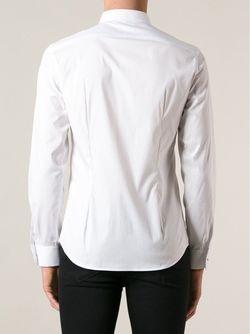 Рубашка С Пуговицами-Шипами Diesel                                                                                                              белый цвет