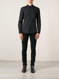 Рубашка С Пуговицами-Шипами Diesel                                                                                                              черный цвет