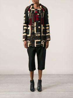 Пальто С Геометрическим Узором Valentino                                                                                                              многоцветный цвет