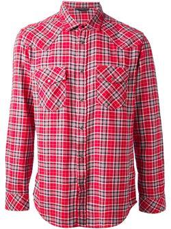 Рубашка В Клетку Diesel                                                                                                              красный цвет