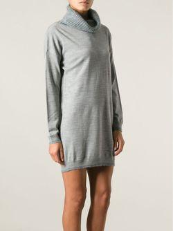 Платье С Вязаным Воротником Diesel                                                                                                              серый цвет