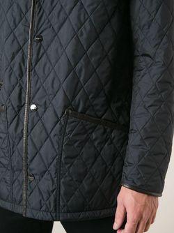 Стеганая Куртка Salvatore Ferragamo                                                                                                              синий цвет