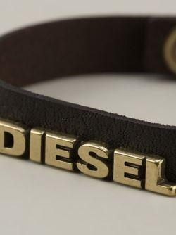 Браслет С Логотипом Diesel                                                                                                              коричневый цвет