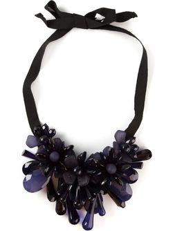 Цветочное Ожерелье На Ленте P.A.R.O.S.H.                                                                                                              синий цвет