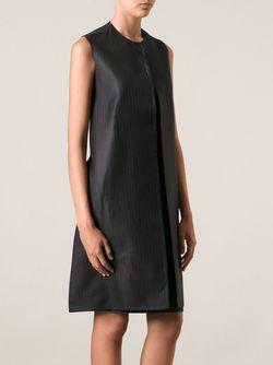 Платье-Шифт В Полоску Maison Margiela                                                                                                              чёрный цвет