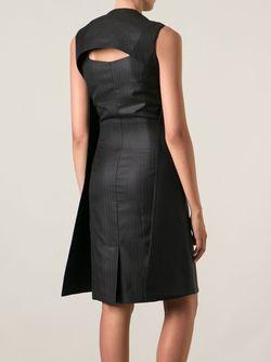 Платье-Шифт В Полоску Maison Margiela                                                                                                              черный цвет