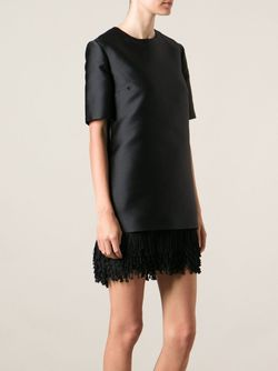 Платье С Бахромой На Подоле Stella Mccartney                                                                                                              чёрный цвет