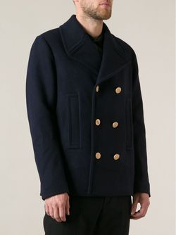 Двубортное Пальто Valentino                                                                                                              синий цвет