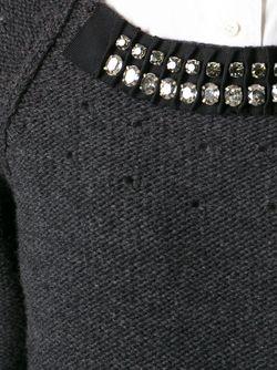 Свитер С Декорированным Воротником Lanvin                                                                                                              серый цвет