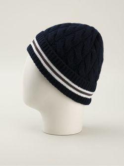 Шапочка С Контрастными Полосками Moncler                                                                                                              синий цвет