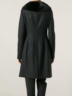 Однобортное Пальто Dolce & Gabbana                                                                                                              серый цвет