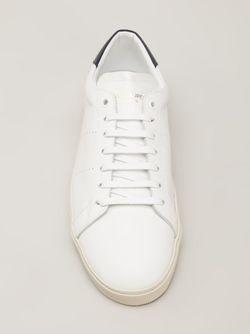 Кеды С Контрастной Вставкой Сзади Saint Laurent                                                                                                              белый цвет