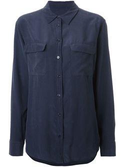 Классическая Рубашка Equipment                                                                                                              синий цвет