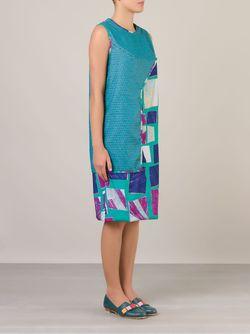 Многослойное Платье Шифт FERNANDA YAMAMOTO                                                                                                              синий цвет