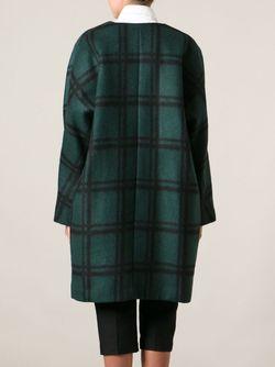Свободное Пальто В Клетку Marni                                                                                                              зелёный цвет