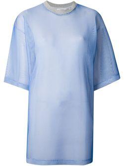 Сетчатая Платье-Рубашка Andrea Crews                                                                                                              синий цвет