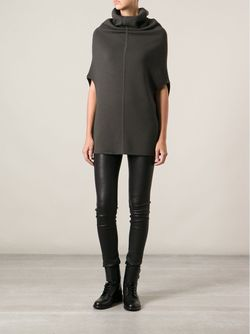 Funnel Collar Sweater Rick Owens                                                                                                              зелёный цвет