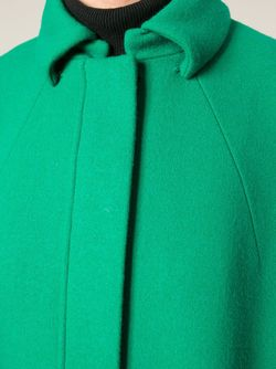Объёмное Пальто-Кокон Gianluca Capannolo                                                                                                              зелёный цвет