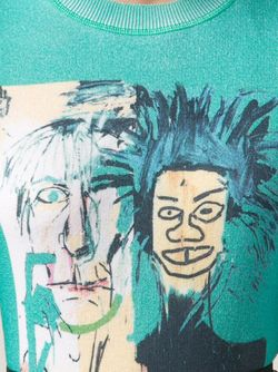 Джемпер Jean-Michel Basquiat Lucien Pellat-Finet                                                                                                              зелёный цвет