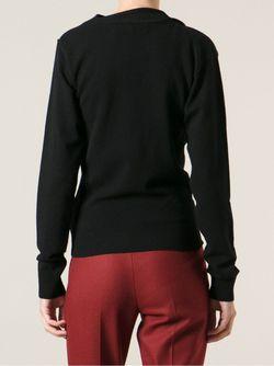Вязаный Свитер Со Складками Lanvin                                                                                                              черный цвет