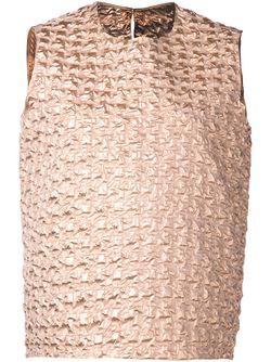 Структурированный Топ Maison Rabih Kayrouz                                                                                                              розовый цвет