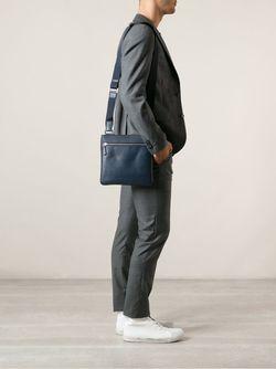 Сумка-Почтальонка Fendi                                                                                                              синий цвет
