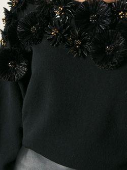 Свитер С Декоративными Цветами Emanuel Ungaro                                                                                                              черный цвет