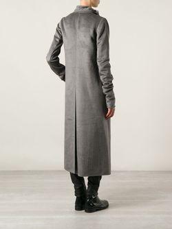 Пальто С Драпированным Воротом Rick Owens                                                                                                              серый цвет