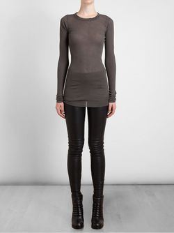 Slim Fit T-Shirt Rick Owens                                                                                                              серый цвет