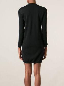 Платье С Кружевной Панелью Valentino                                                                                                              черный цвет