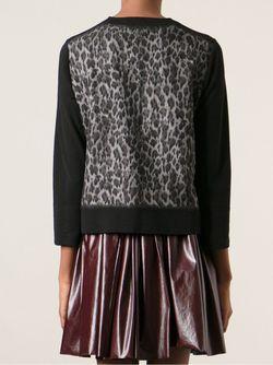 Кардиган В Леопардовый Принт Giambattista Valli                                                                                                              чёрный цвет