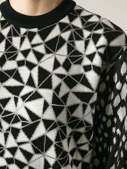 Жаккардовый Свитер Fausto Puglisi                                                                                                              черный цвет