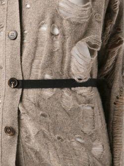 Кардиган С Декоративными Дырками Maison Margiela                                                                                                              Nude & Neutrals цвет