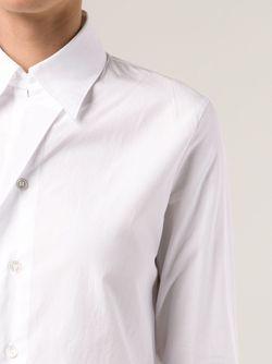 Рубашка Со Складной Yohji Yamamoto                                                                                                              белый цвет