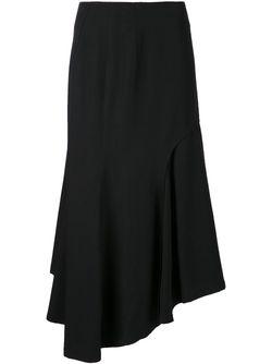 Юбка С Драпировкой Yohji Yamamoto                                                                                                              чёрный цвет