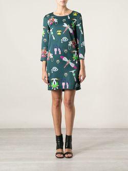 Платье Шифт Mary Katrantzou                                                                                                              зелёный цвет