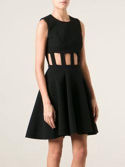 Расклешенное Платье С Вырезами David Koma                                                                                                              чёрный цвет