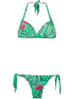 Бикини С Цветочным Принтом AMIR SLAMA                                                                                                              зелёный цвет