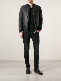 Дутая Куртка Бомбер Yves Salomon                                                                                                              черный цвет