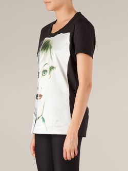Appliqué Portrait T-Shirt Ports                                                                                                              черный цвет