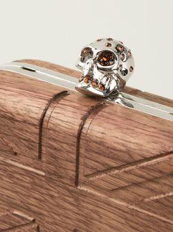 Клатч-Коробка Skull Alexander McQueen                                                                                                              коричневый цвет