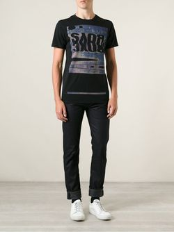 Футболка С Принтом Marc Jacobs                                                                                                              черный цвет