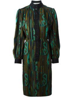Платье С Принтом Jean Louis SCHERRER VINTAGE                                                                                                              черный цвет