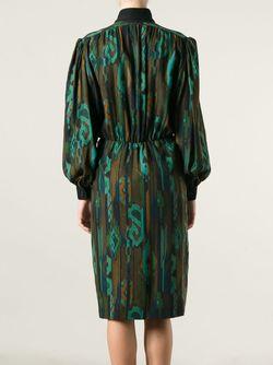 Платье С Принтом Jean Louis SCHERRER VINTAGE                                                                                                              чёрный цвет