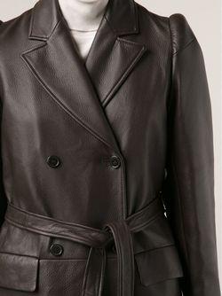 Двубортное Пальто Maison Margiela                                                                                                              коричневый цвет