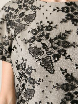 Платье С Кружевным Верхним Ярусом Blugirl                                                                                                              черный цвет