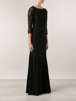 Вечернее Платье С Кружевными Рукавами Zarita Diane Von Furstenberg                                                                                                              черный цвет