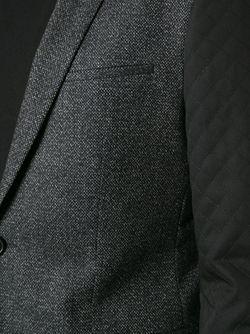 Пиджак С Контрастными Стёгаными Рукавами Hugo                                                                                                              серый цвет