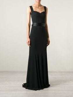 Вечернее Платье С Атласным Поясом Dolce & Gabbana                                                                                                              чёрный цвет