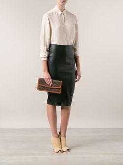 Клатч Dame С Монограммным Принтом LOUIS VUITTON VINTAGE                                                                                                              коричневый цвет